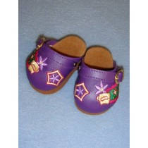 "Shoe - Jewel Box Clogs - 3"" Purple"