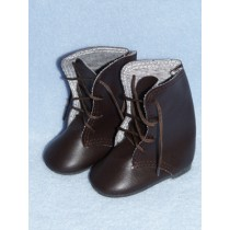 "Shoe - Lace-Up Boots - 3"" Brown"