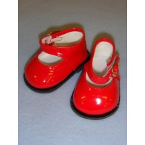 "Shoe - Mary Jane - 3"" Red Patent"