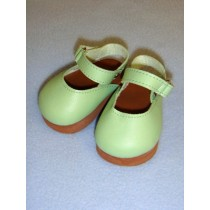 "Shoe - Mary Jane Clogs - 3"" Light Green"