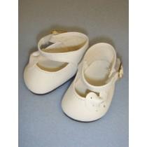"""Shoe - Mary Jane Side Ribbon - 2 3_4"""" White"""