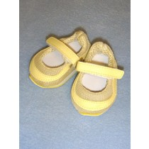 "Shoe - Mary Jane Sneakers - 3"" Light Yellow"