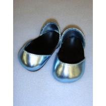 "Shoe - Metallic Sparkly - 2 3_4"" Light Blue"