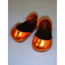 "Shoe - Metallic Sparkly - 2 3_4"" Orange"