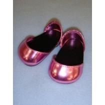 "Shoe - Metallic Sparkly - 2 3_4"" Pink"
