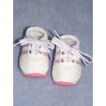 "Shoe - Mini Sketz - 3"" White w_Pink"