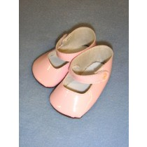 "|Shoe - Patent Button-3 1_2"" Pink(1)"