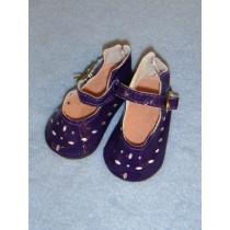"Shoe - Patent Cutwork - 3"" Purple"