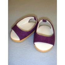 "Shoe - Pretty Wedge - 2 3_4"" Dark Purple"