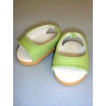 "Shoe - Pretty Wedge - 2 3_4"" Light Green"