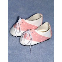 "Shoe - Saddle - 3"" White_Pink"