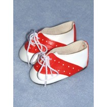 "Shoe - Saddle - 3"" White_Red"