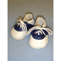 "Shoe - Saddle Oxfords - 3"" Navy_White"