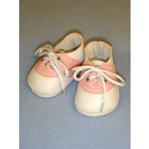 "Shoe - Saddle Oxfords - 3"" Pink_White"