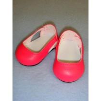 """Shoe - Sleek Side Cut-Out - 2 3_4"""" Dark Pink"""
