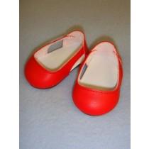 "Shoe - Sleek Side Cut-Out - 2 3_4"" Red"