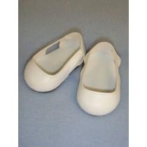 "Shoe - Sleek Side Cut-Out - 2 3_4"" White"