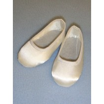 "Shoe - Slip-On - 3"" White Satin"