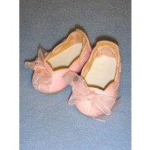 "Shoe - Slip-On w_Ribbon - 2 3_4"" Pink"