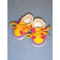 "Shoe - Sporty - 2 7_8"" Yellow_Pink_Purple"