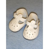 "Shoe - T-Strap - 2 7_8"" White"