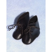 "Shoe - Tie Boot - 3 1_2"" Black"