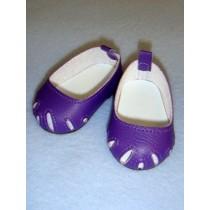 "Shoe - Toe-Cut Flats - 2 3_4"" Dark Purple"