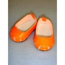 """Shoe - Toe-Cut Flats - 2 3_4"""" Orange"""