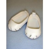 "Shoe - Toe-Cut Flats - 2 3_4"" White"