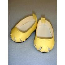 "Shoe - Toe-Cut Flats - 2 3_4"" Yellow"