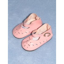 "Shoe - Patent Cutwork - 3"" Pink"