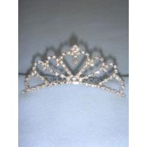 Silver Tiara w_Crystals - 4