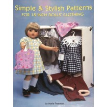 "Simple & Stylish Patterns for 18"" Dolls' Clothing"