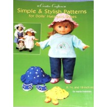 "Simple & Stylish Patterns for Dolls Hats & Shoes 8""-14""-18"""
