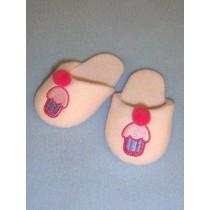"Slipper - Cupcake - 3"" Pink"