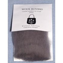 Smoke Grey Wool Roving for Needlefelting - 12