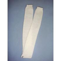 "Stocking - Lattice - 18-20"" White"