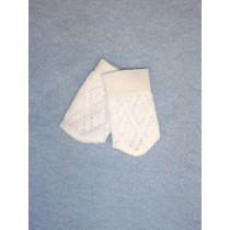 "Stocking - Lattice - 8-11"" White(00)"