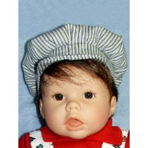 "Striped Engineer Cap for 19""-22"" Dolls"