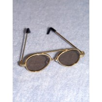 "Sunglasses - Aviator - 3"" Gold"