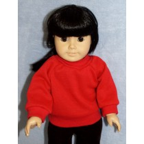 "Sweatshirt - Red - for 18"" Dolls"