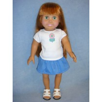"|T-Shirt & Skirt - 18"" Dolls"