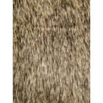 Tan Racoon Fur Fabric - 1 Yd