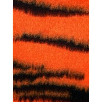 Tiger Fur Fabric Orange_Bk  - 1 Yd