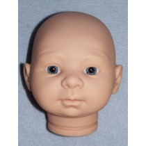 Tina Doll Head w_Blue Eyes - Unpainted