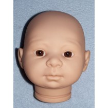 |Tina Doll Head w_Brown Eyes - Unpainted