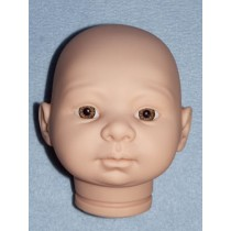 Tina Doll Head w_Hazel Eyes - Unpainted