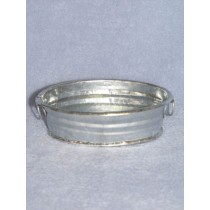 "Tub - Oval Galvanized - 5 1_2"" Long"