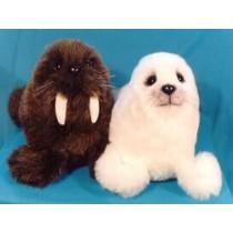"Wally & Softy 9"" Walrus & Baby Seal"