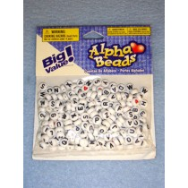White Alpha Beads 7mm Round 250 pcs